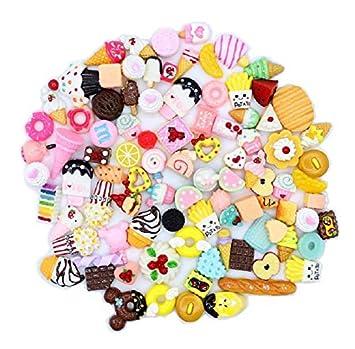 Ilovediy 30 Stück Kleine Dinge Zum Basteln Mini Barbie Puppe Brötchen Ornaments Schmuck Zubehör Diy Deko Stress Relief Spielzeug 2