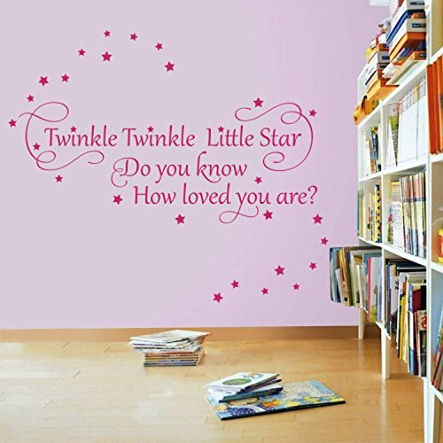(Twinkle Twinkle Little Star 2 - Nursery Wall Quote Decal Sticker)