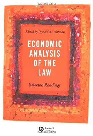 an analysis of selected readings on Get this from a library economic analysis of the law : selected readings [donald a wittman wiley interscience (online service).