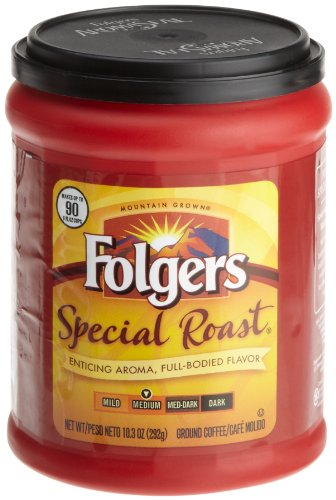 Folgers Coffee Ground Special Roast, 10.3 Ounce (Pack of 4)