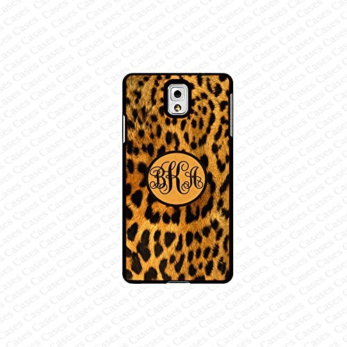 krezy case monogram Galaxy Note 4 case- monogram Personalized leopard pattern samsung Galaxy Note 4 case- fits...