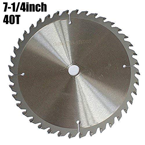 OSCARBIDE Circular Saw Blade 7-1/4 Inch 40-Tooth Carbide TCT Cutters Saw Blades 5/8 Inch Arbor ultra Finishing Cutting For General purpose Hard Soft Wood & Other Composite Wood 1pcs ()