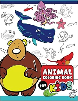 Animal Coloring Books for Kids: The Really Best Relaxing Colouring ...