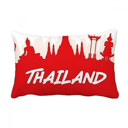 Amazon com: DIYthinker Red Silhouette Landmark Thailand Throw Lumbar