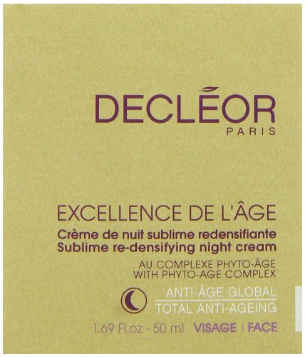Re Densifying Care - Decleor Excellence De L'age Sublime Re-Densifying Night Cream for Unisex, 1.69 Ounce