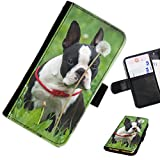 Hairyworm - Dogs LG G3 (D855, D850, D851) leather side flip wallet cell phone case, cover