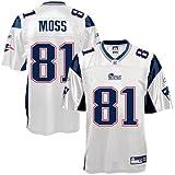 Reebok New England Patriots Randy Moss Replica White Jersey Large