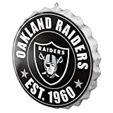 Oakland Raiders NFL Bottle Cap Wall Sign