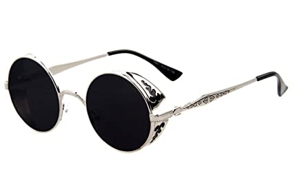 91fde3beaf0 Image Unavailable. Image not available for. Color  TELAM Men and women  fashion retro round sunglasses ...