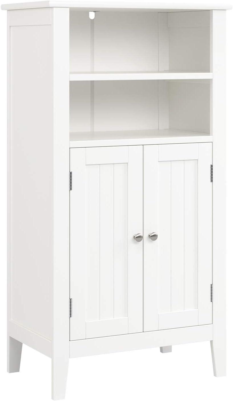 Homfa Mueble Auxiliar Baño Armario de Suelo para Baño Cocina Salón Armario Almacenaje con 4 Compartimentos 2 Puertas Blanco 50x30x92.5cm