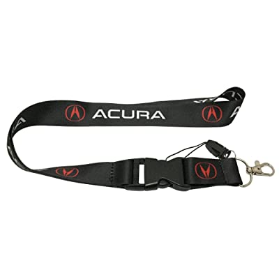 Coloryard 1pcs Black Color USA Ship New Quick Release Neck Strap Lanyard Keychain Keyring Car Keys House Keys ID Badges Card For Acura Design: Automotive