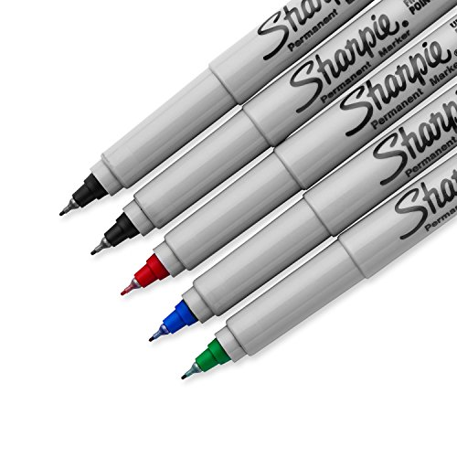 Sharpie Ultra Fine Point Permanent Markers, 5 Colored Markers (37675PP)
