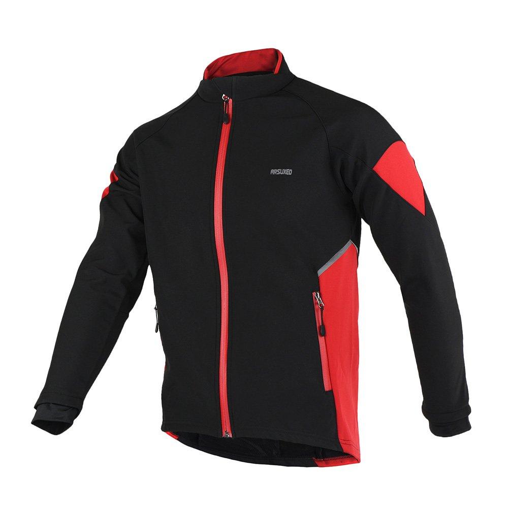 TOFERN Men's Winter Thicken Fleece Outdoor Cycling Climbing Jacket Waterproof Breathable