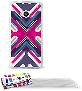"""Carcasa Flexible Ultra-Slim HTC ONE / M7 de exclusivo motivo [Flecha] [Transparente] de MUZZANO  + 3 Pelliculas de Pantalla """"UltraClear"""" + ESTILETE y PAÑO MUZZANO REGALADOS - La Protección Antigolpes ULTIMA, ELEGANTE Y DURADERA para su HTC ONE / M7"""