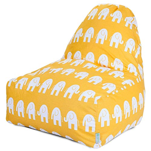 Majestic Home Goods Kick-It Chair, Yellow Ellie ()