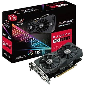 ASUS ROG Strix Radeon RX 560 14CU O4G EVO Gaming OC Edition GDDR5 DP HDMI DVI AMD Graphics Card (ROG-STRIX-RX560-O4G-EVO-GAMING)