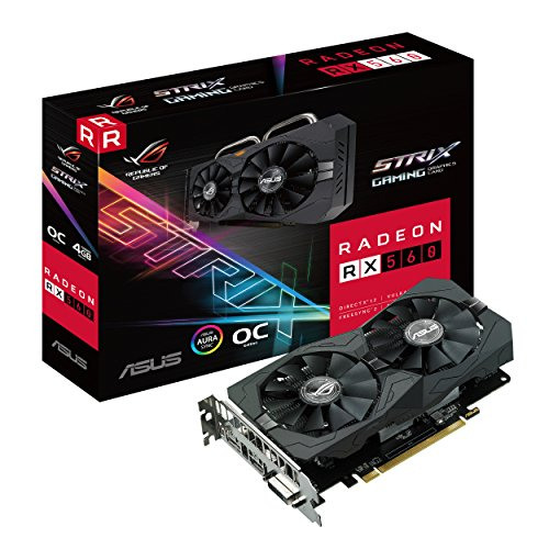 ASUS ROG-STRIX-RX560-O4G-EVO-GAMING Graphic Cards by Asus