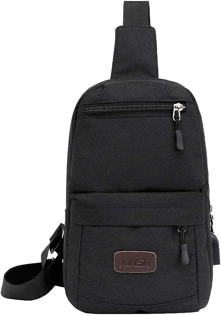 Sling Shoulder Crossbody Chest Bag for Men Women Lightweight Hiking Travel Backpack Daypack