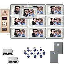 Multi Tenant Video Entry Ten 7 video monitor door camera kit