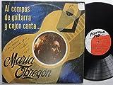 Long Play Maria Obregon Al Compas De Guitarra Y Cajon Virrey Industrias Musicales PERU