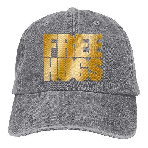 Sport Cowboy Skull Cowgirl DEFFWB Hugs for Free Men Hat Women Cap Denim Hats qIwO4Y8
