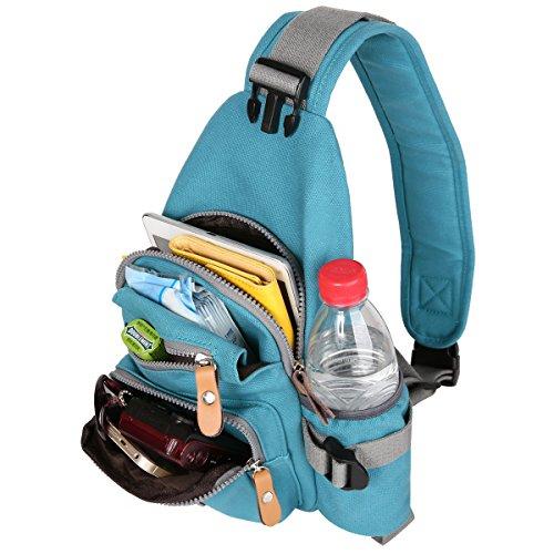 Azul Color de de de Azul Pecho Compra para Bolso Eshow Tela de Ocio de Bolso Lona mujer Cruzado Bolso HAUaaxqn7