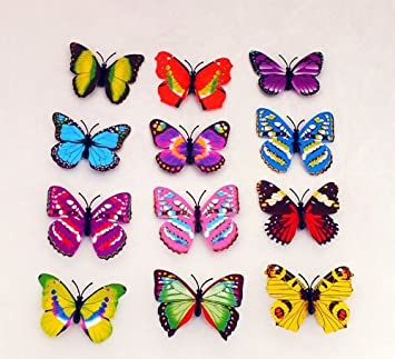Amazon Com 20pcs 10cm Simulated Decor Colorful Butterfly With