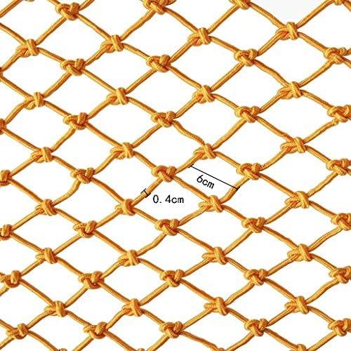 バルコニー、階段などフェンスネットデコレーションネット落下防止ネット安全ネットネット幅4メートルのための保護ネットナイロンロープ秋の保護 (Size : 4m*3m)