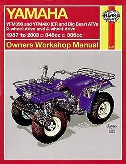 Yamaha kodiak grizzley atvs 1993 2005 owners workshop manual yamaha atvs timberwolf bruin bear tracker 350er and big bear 1987 2009 fandeluxe Image collections