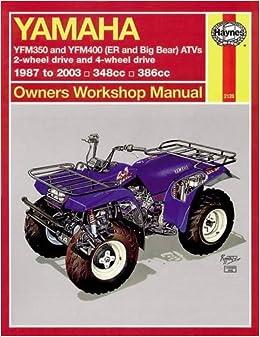 ;READ; Yamaha ATVs Timberwolf, Bruin, Bear Tracker, 350ER And Big Bear 1987 - 2009 (Haynes Service & Repair Manual). Process posted Light designs Gipuzkoa dirigir CAPERLAN