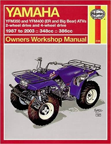 yamaha atvs timberwolf, bruin, bear tracker, 350er and big bear 1987 - 2009  (haynes service & repair manual) paperback – may 1, 2015
