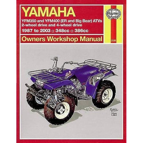 Yamaha repair manual amazon yamaha atvs timberwolf bruin bear tracker 350er and big bear 1987 2009 haynes service repair manual fandeluxe Image collections