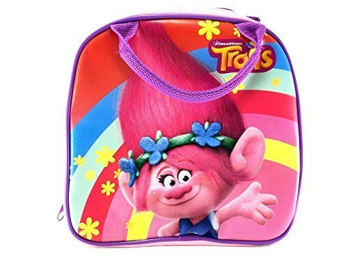Trolls Dreamworks Poppy Lunch Bag Plus Water Bottle- Pink