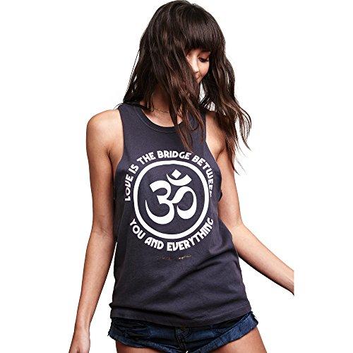 Spiritual Gangster Women's Love Is The Bridge Rocker Tank Vintage Black Size (Women Gangsters)