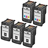 Speedy Inks - Remanufactured Ink Cartridge Replacement for Canon PG210XL 2973B001 CL211XL 2975B001 (5Pk - 3 Bk 2 Cl) for PIXMA iP2700 iP2702 iP230 MP495 MP499 MX320 MX330 MX340 MX350 MX360 MX410 MX420