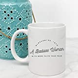 Badass Woman | Motivational Quote Coffee Mug | Gifts-for-Her | Inspirational Mug | Motivational Mug | Best Friend Gift | Mugs with Sayings