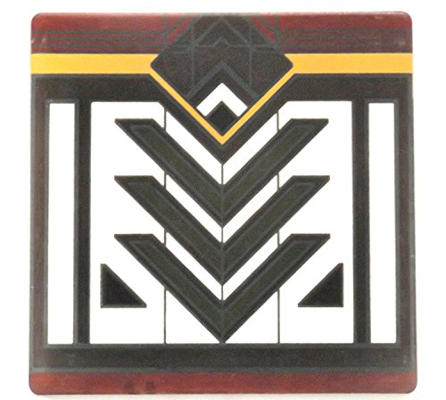 CoasterStone Frank Lloyd Wright Rug Designs in Mayer May Residence Inspire This Absorbent Trivet