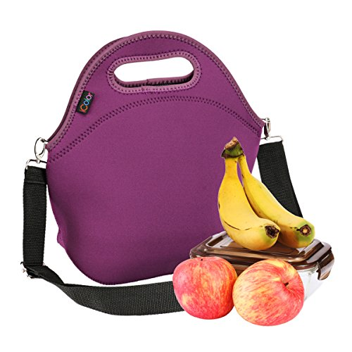 iColor Neoprene Lunch Bag, removale Shoulder Strap, Thermal Thick Lunch Tote Bag,Large Size[13x 12.76],Reusable Bags for Adults,Kids-Great for Outdoors, Work,School & More YLLB-07