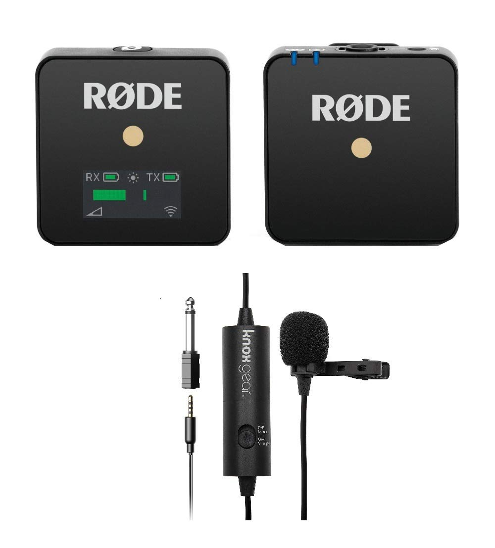 Rode Microphones Compact Transmitter/Receiver Wireless Solution with Knox Gear Clip-On Lavalier Microphone (2 Items) by Rode