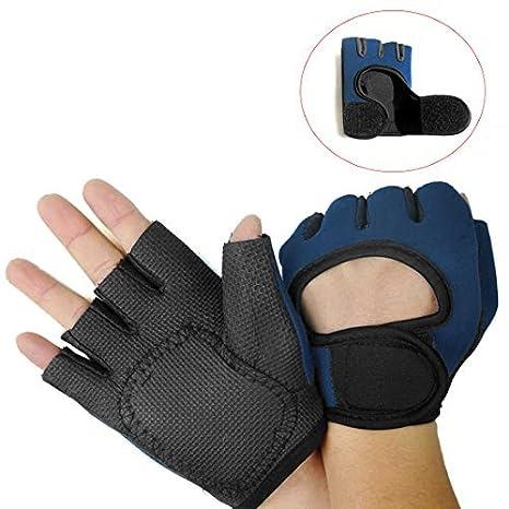 Amazon.com: eDealMax 1 Par Guantes Azul Marino Entrenar Gimnasio del levantamiento de pesas Para las Manos protección de Palm: Health & Personal Care