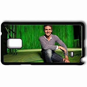 Personalized Samsung Note 4 Cell phone Case/Cover Skin Alexander Klaws Smile Man Hands Jeans Black