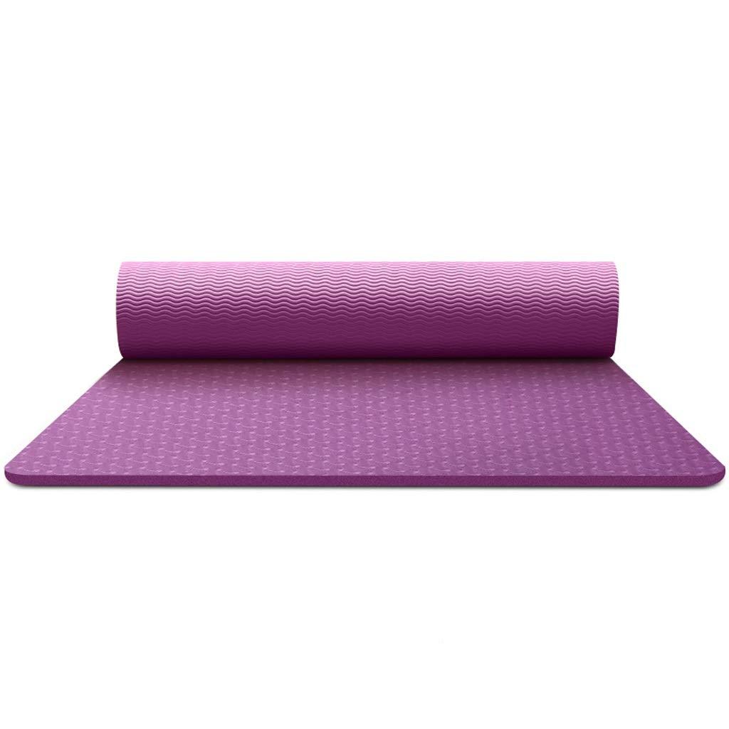 Violet BFQY FH Tapis De Yoga, Hommes Et Femmes élargi Anti-dérapant épaississement Fitness Fitness Home Tapis De Yoga, Sélection MultiCouleure 8mm   6mm 183 × 80 × 0.6cm