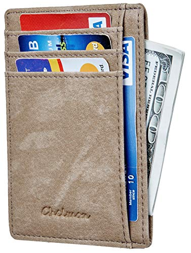 Chelmon Slim Wallet RFID Front Pocket Wallet Minimalist Secure Thin Credit Card Holder (Vinti Wrangler)