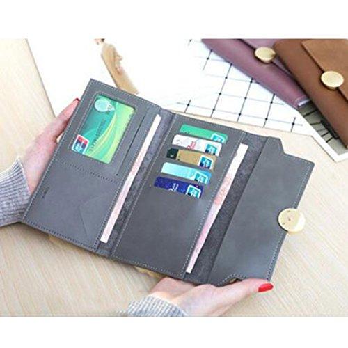 Frau Brieftasche Von ZAIYI Einfache Retro Brieftasche Lange Dame Clutch Buckle Scrub Mode Tasche Clutch Bag,C B