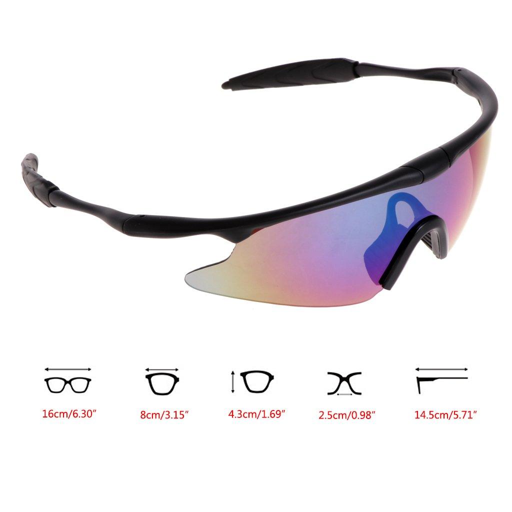 9e93706160 Amazon.com   GaoCold Cycling Glasses UV400 Sun Glasses Bicycles Mountain  Bike Goggles Outdoors Sport Eyewear Black Frames   Colorful Lens   Sports    ...