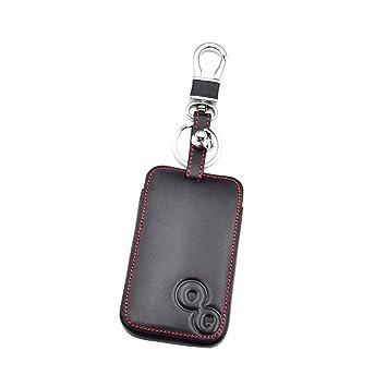 Happyit Cuero Coche Llave Caso Cubrir Llavero para Renault Laguna Espace 2 Botones Smart Remote