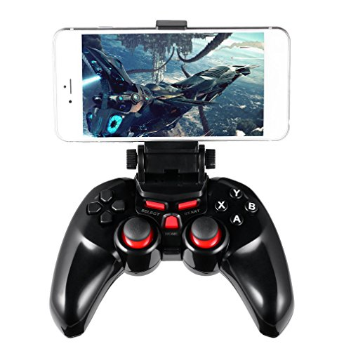 ICOCO Game Controller Gamepad Wireless Bluetooth Joypad with Clamp Holder for Android/PC(Windows XP/7/8)/Xbox 360/PlayStation 3/Tablets/Android TV/Android TV Boxes (Logitech Snes Usb Controller)