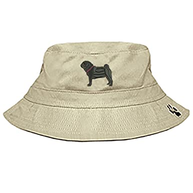 d1b1603b Amazon.com: Pug Black Bucket Cap: Clothing