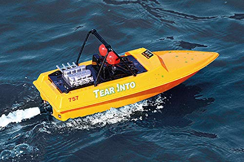 RC NQD Tear Into Fast Speed Racing Boat Remote Control Water Jet Boat YELLOW ()
