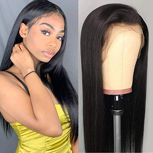 VSHOW Hair Lace Front Pre-plucked Wigs Human Hair Malaysian Straight Remy Virgin Hair 130% Density 14 Inches for Black Women (The Best Malaysian Hair)